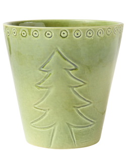 Свеча в горшочке FIR HIVERNA GREEN D13XH13 EARTHENWARE 30462