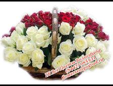 Корзина роз и смешанных роз С поздравлениями