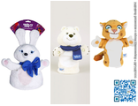 Игрушки-Талисманы Sochi-2014 на руку (кукла-рукавица для кукольного театра)