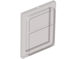 Glass for Train Door with Lip on All Sides, Trans-Black (35157 / 6244882)