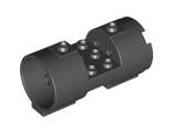 Cylinder 3 x 6 x 2 2/3 Horizontal - Square Connections Between Interior Studs, Black (93168 / 4645088 / 6170838)