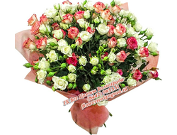 Кустовые розы штучно