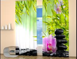 Фотошторы: Орхидея на камнях