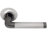 Дверные ручки Morelli DIY MH-03 SN/BN Цвет Белый никель/черный никель