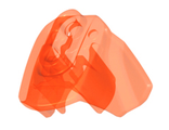 Hero Factory Armor with Ball Joint Socket - Size 3, Trans-Neon Orange (90641 / 6014043 / 6045953)