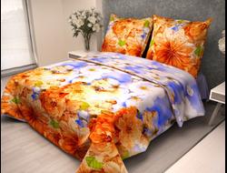 САКУРА БЕЖЕВЫЙ.  Постельное белье из набивной бязи традиции текстиля, цельнокройное, плотность ткани 125 гр/м