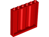 Panel 1 x 6 x 5 Corrugated, Red (23405 / 6226927)
