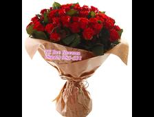 37 красных роз букет