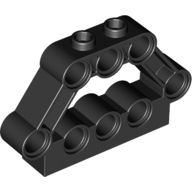Technic, Pin Connector Block 1 x 5 x 3, Black (32333 / 4141810)