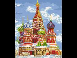 """Алмазная вышивка (мозаика) """"Храм Василия Блаженного"""" 4753 см"""
