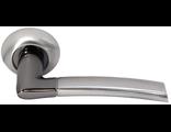 Дверные ручки Morelli DIY MH-06 SN/BN Цвет Белый никель/черный никель