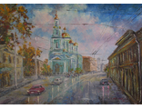 "Круглова Светлана. ""Осень в Елохове"", холст / масло,  50 х 70 см.. 2015 г."