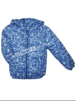 """куртка детская демисезонная 2-6 лет """"Буквы"""" цвет синий"""