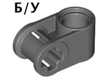 ! Б/У - Technic, Axle and Pin Connector Perpendicular, Dark Bluish Gray (6536 / 4210851 / 6536199) - Б/У