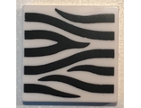 Tile 2 x 2 with Zebra Stripes Pattern, White (3068bpb1032 / 6172777)
