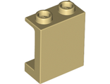 Panel 1 x 2 x 2 with Side Supports - Hollow Studs, Tan (87552 / 6063943)