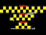 Купить наклейки на авто Такси (от 30 р.) шашечки лента. Наклейки для такси в наличии и на заказ.