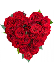 Сердце из 19 роз