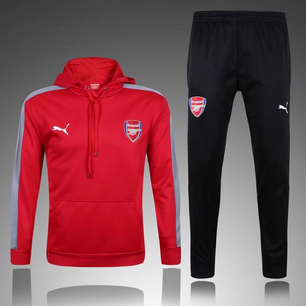 538a5922ed75 Купить спортивный костюм ФК Арсенал 17-18 красно-черный с капюшоном
