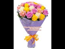 Микс 21 роза Радужный Шик
