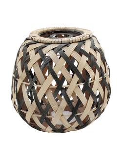 Абажур LAMPSHADE KOGAWA NATURAL+BLACK D27XH26 BAMBOO+IRON арт. 30993