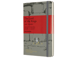 Блокнот Moleskine Lord of the Rings Линейка Мория (в линейку) large, серый