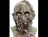 страшная маска, червивый зомби, разложившийся, мертвец, труп, покойник, латексная, силиконовая