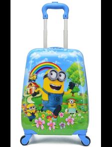 Детский чемодан на 4 колесах Миньоны Радуга / Minions Rainbow