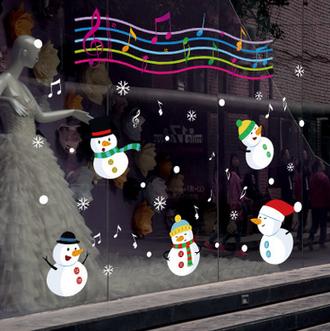 Наклейка 'Мелодия снеговиков'