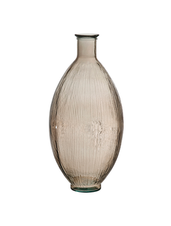Ваза бутыль VASE    SMOKE D29XH59CM RECYCLED GLASS 30479
