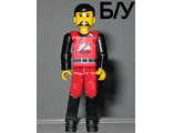 ! Б/У - Technic Figure Red/Black Legs, Red Top, Black Hair (Fireman), n/a (tech008) - Б/У
