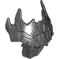 Bionicle Chest Armor, Jagged Spiky, Pearl Dark Gray (20475 / 6114328)