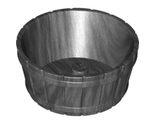 Container, Barrel Half Large with Axle Hole, Pearl Dark Gray (64951 / 6197966)
