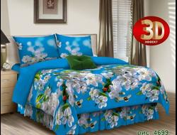 ЯБЛОНЕВЫЙ цвет.  Постельное белье из набивной бязи традиции текстиля, цельнокройное, плотность ткани 125 гр/м2