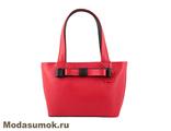 Женская сумка из натуральной кожи L-Craft L 47 красная