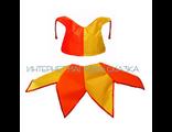 Детский танцевальный костюм Скоморох (желто-красный)