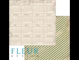 "FD1003111 Бумага двусторонняя ""Календарь 2016"", ""Новогодняя ночь"", 30х30см, 190г/м, Fleur Design"