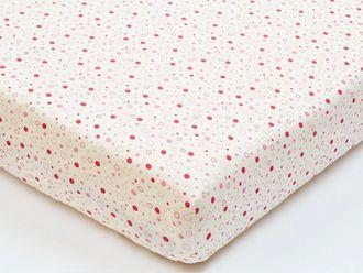 Простынь на резинке для новорожденных shapito by giovanni Горошек розовый