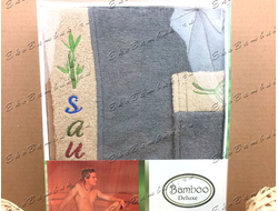 Комплект для сауны из бамбука мужской стальной