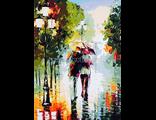 Дождь в городе, худ. Леонид Афремов