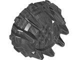 Wheel Hard Plastic with Small Cleats and Flanges, Pearl Dark Gray (64712 / 6208834)