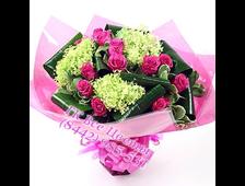 Букет Бриз Счастья: из розовых роз