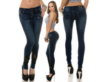 Sexy KouCla push-up jeans with lace and rhinestone