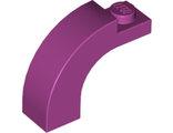 Brick, Arch 1 x 3 x 2 Curved Top, Magenta (6005 / 6030472)