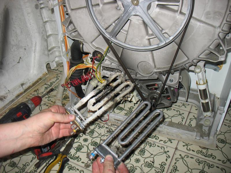Ремонт стиральных машин bosch замена тена