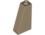 Slope 75 2 x 1 x 3 - Hollow Stud, Dark Tan (4460b / 4653509)