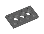 Technic, Plate 2 x 4 with 3 Holes, Dark Bluish Gray (3709b / 4227398)