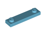 Plate, Modified 1 x 4 with 2 Studs, Medium Azure (92593 / 6109826)
