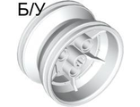 ! Б/У - Wheel 43.2mm D. x 26mm Technic Racing Small, 3 Pin Holes, White (41896 / 418961 / 4238865 / 4498353) - Б/У