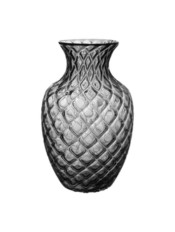 Ваза VASE DRAGO GREY D19.5XH31.5CM GLASS 29929